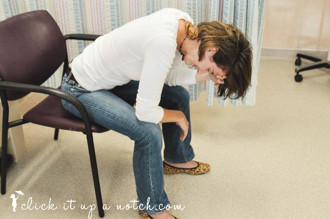 Photo photographer feeling sick in the hospital.